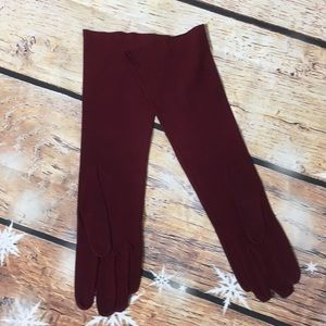 Vintage Edelweiss French suede long gloves